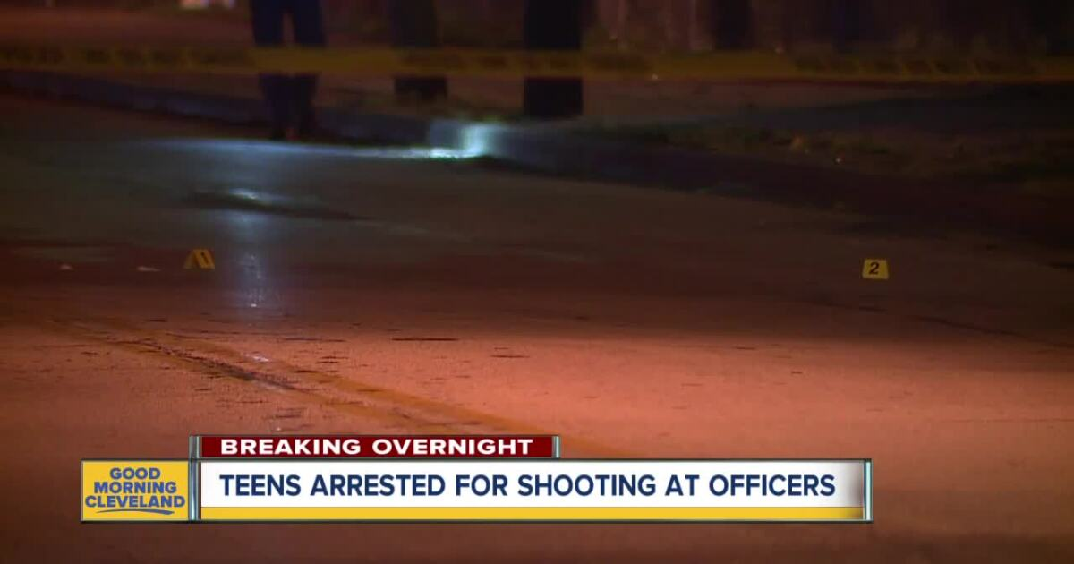 2 teens arrested after police said they shot at officers