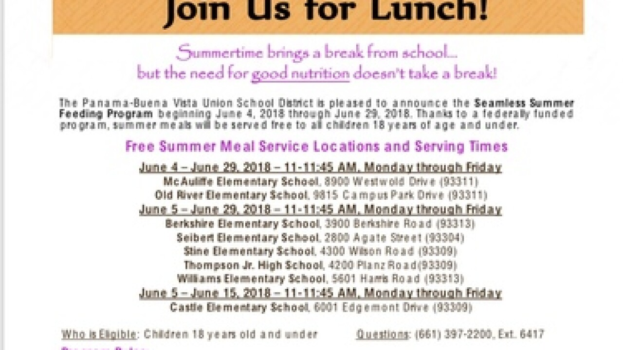Local district offers free summer meals to kids