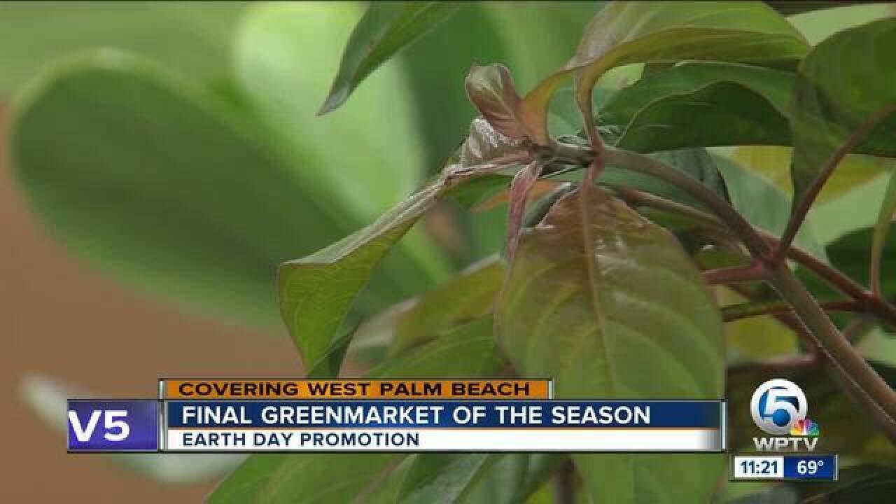 Final Greenmarket of the season in West Palm Beach on April 21