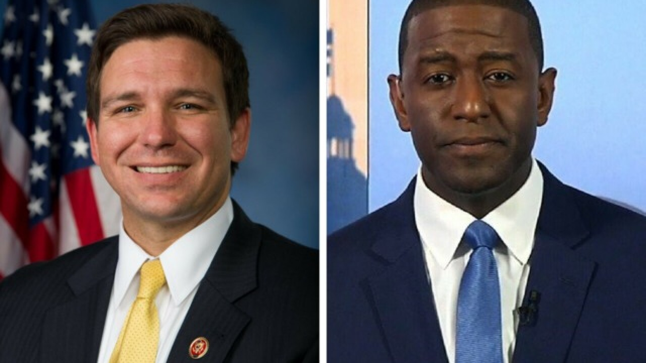 Florida's GOP gubernatorial nominee says a vote for his black opponent would 'monkey this up'