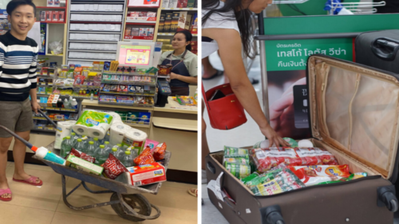 After Thailand Banned Plastic Bags, People Got Super Creative About Carrying Their Groceries