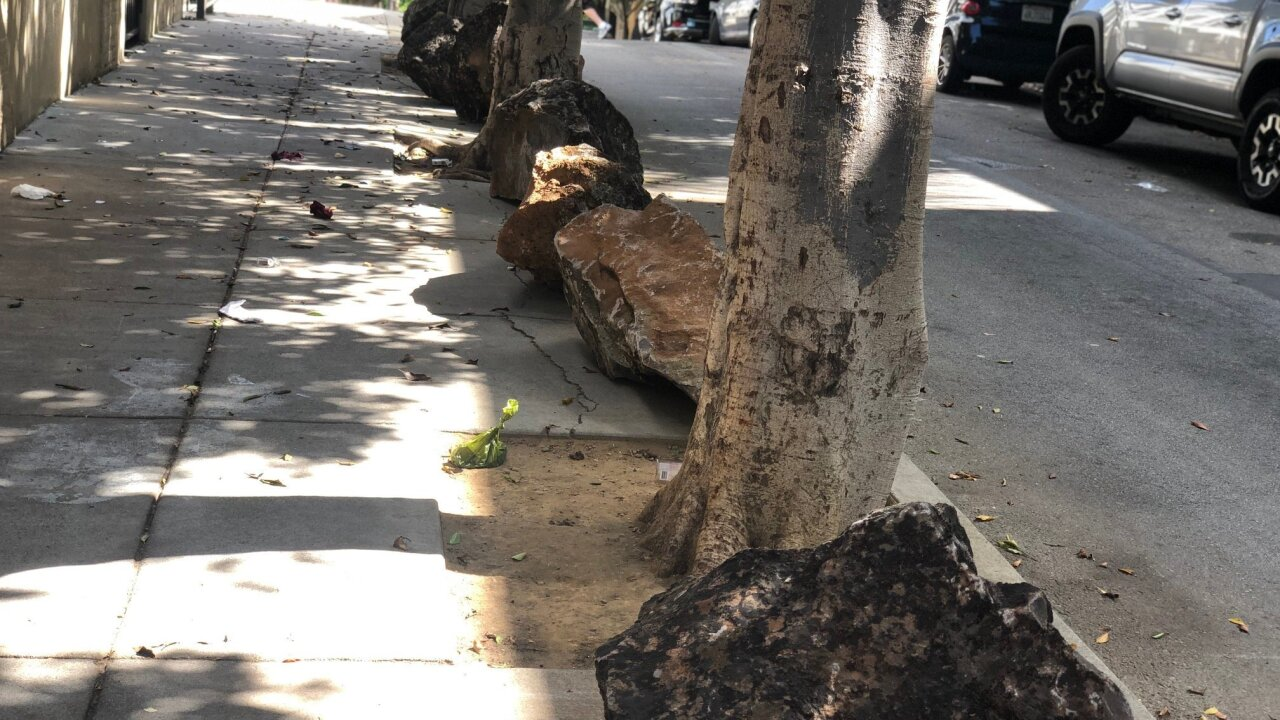 San Francisco removes boulders put out by residents to deter homeless