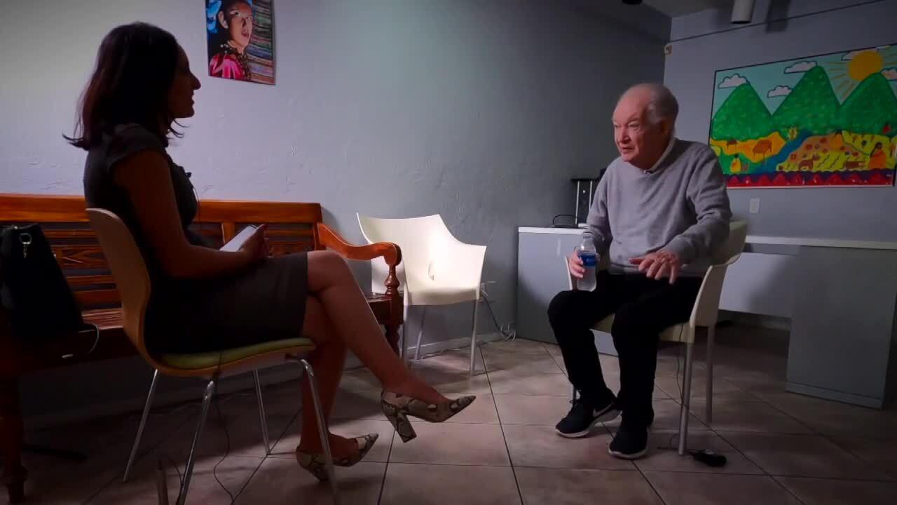 Michelle Quesada interviews Father Frank O'Loughlin