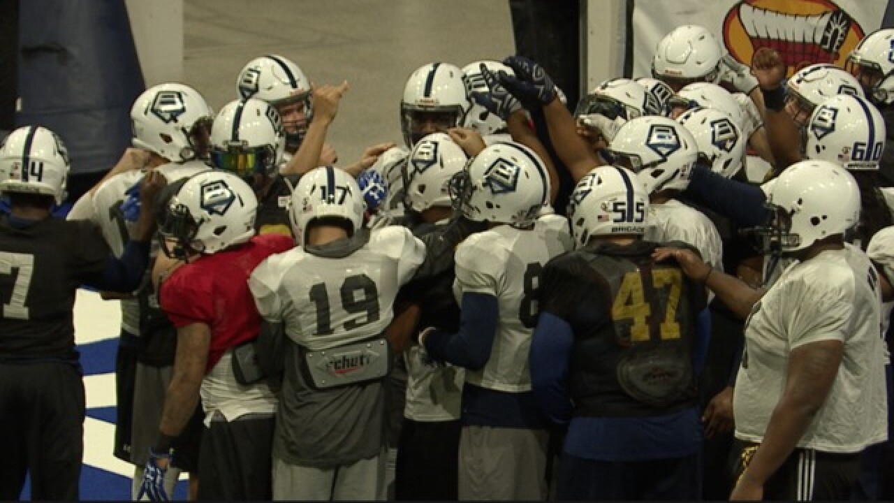 Brigade sitting atop the Arena Football League