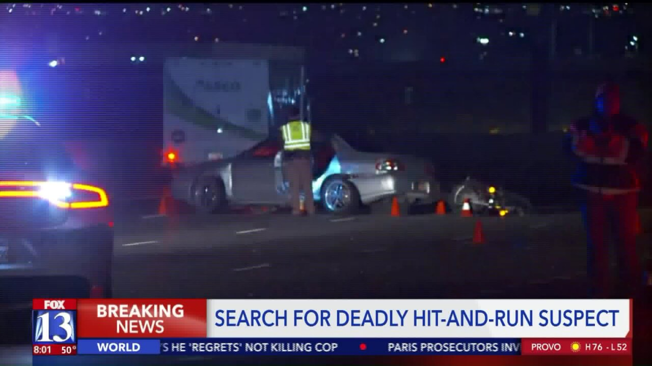 Police seek driver who fled after fatal crash involving motorcycle on SR-201 in West ValleyCity