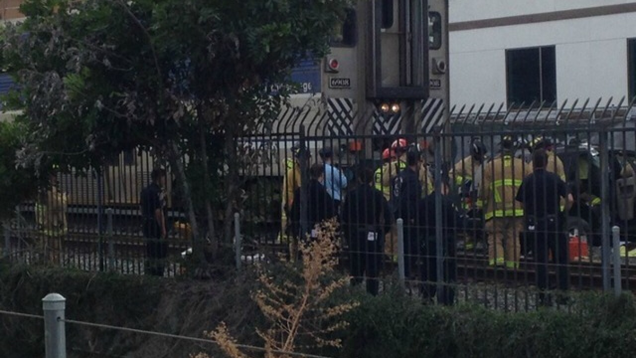 Car vs. train crash: Rescue underway