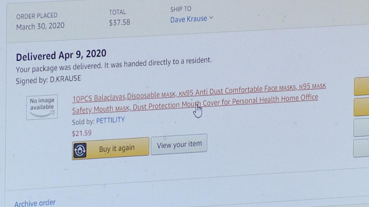 Amazon mask order