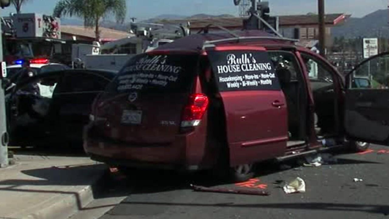 Kids among several hurt in El Cajon T-bone crash