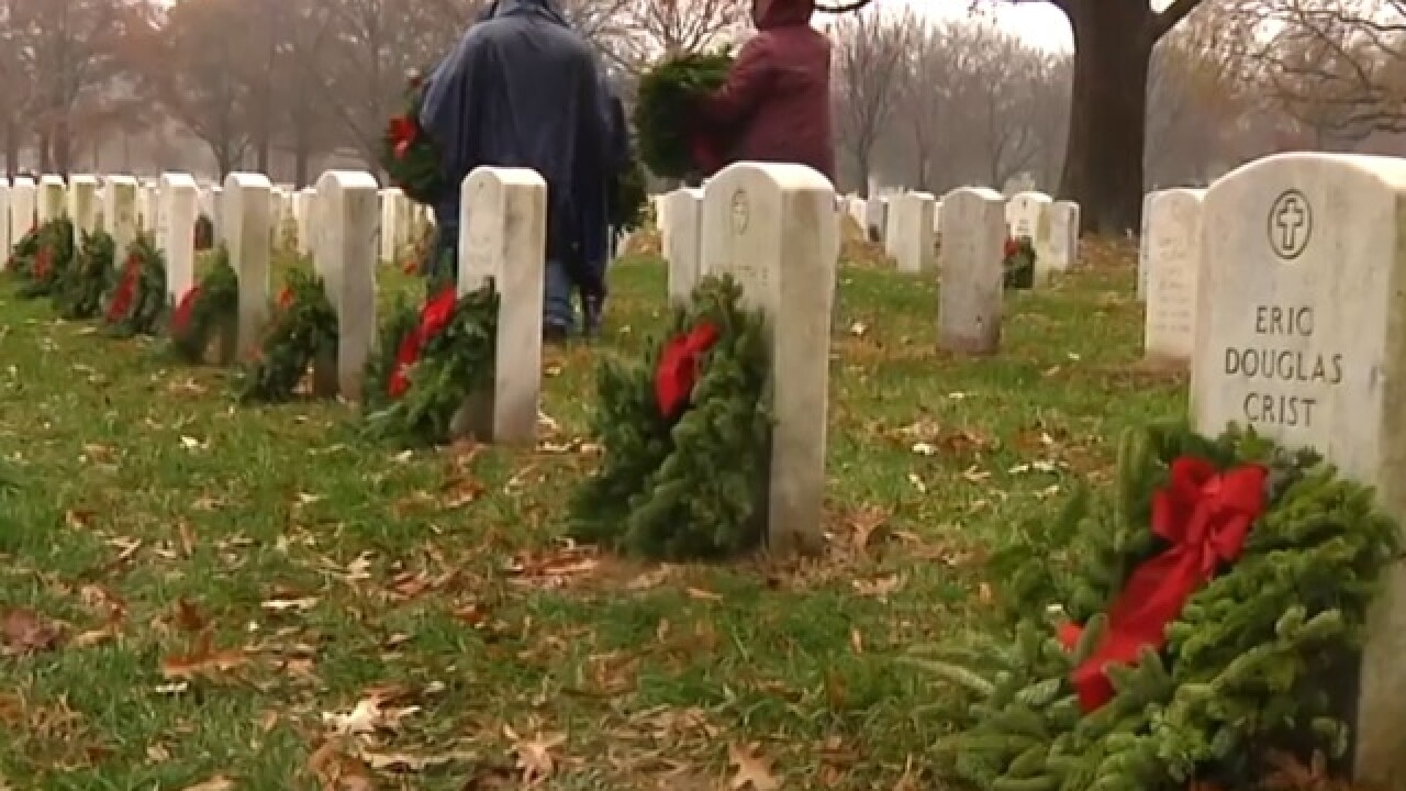 Thousands of wreaths honor fallen heroes