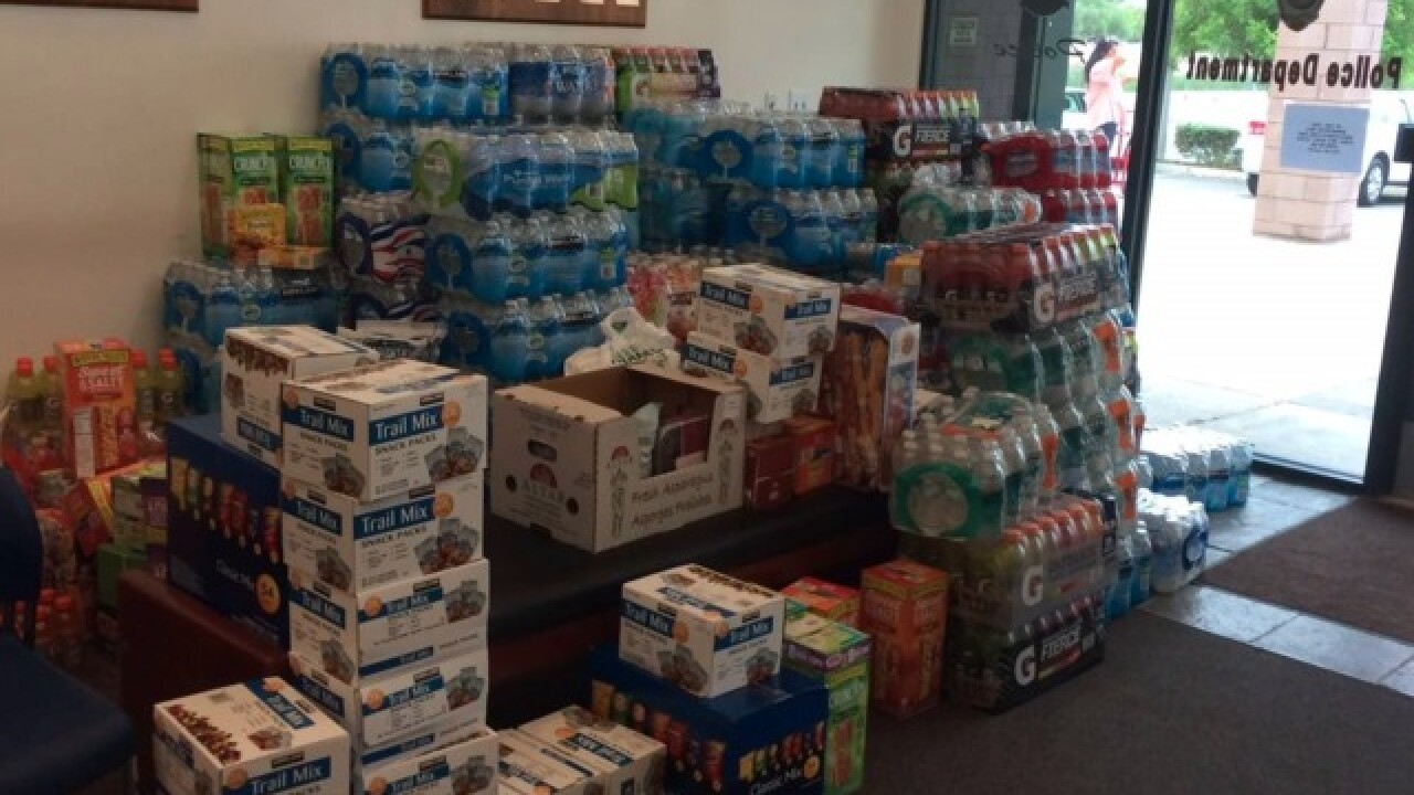 Lake Elsinore Sheriff's Station running out of room for fire donations, asks people to stop donating