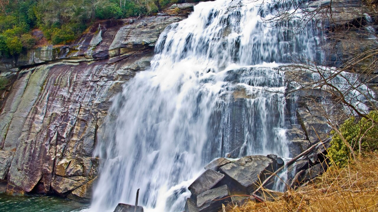 Teenage girl dies after being swept over 125-foot waterfall in North Carolina