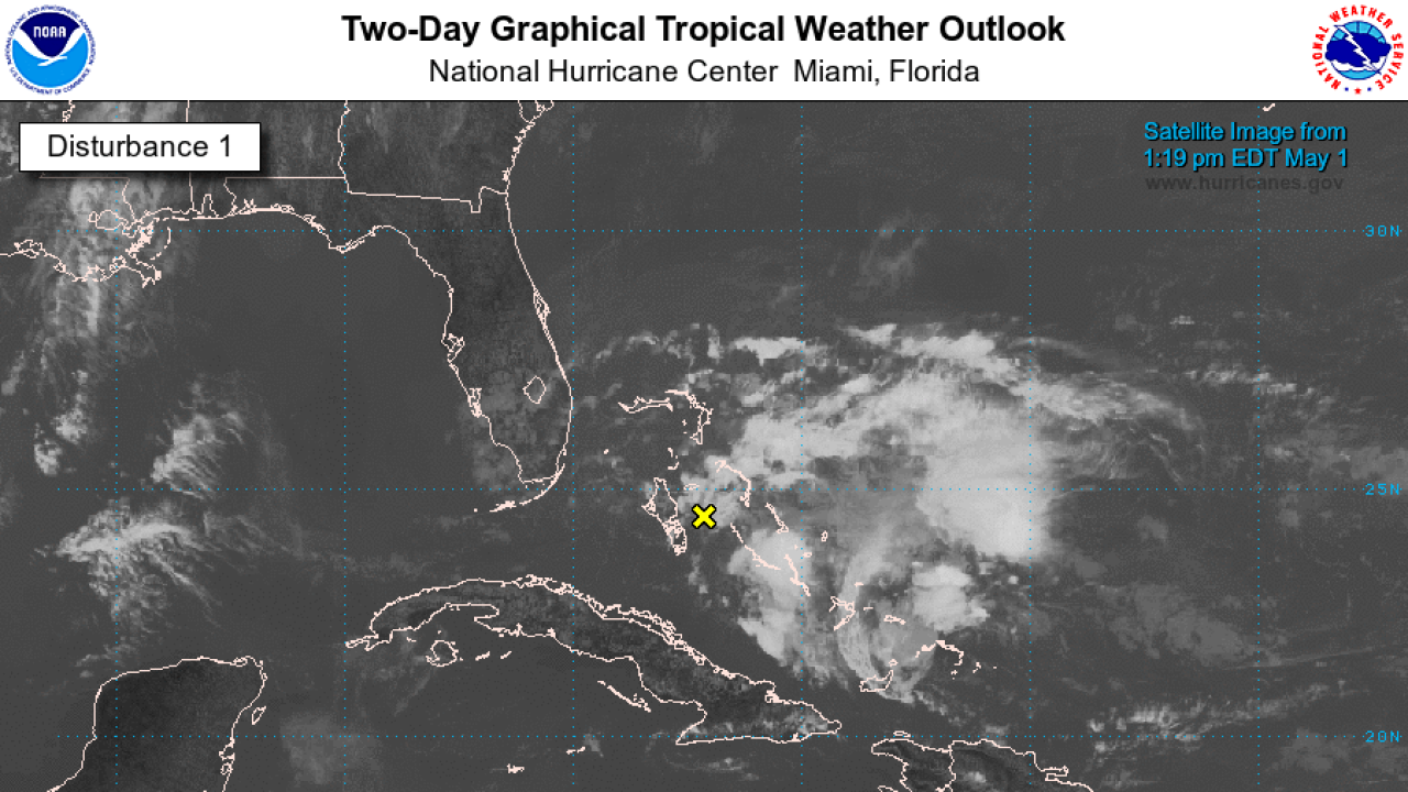 NHC watching disturbance in the Caribbean on