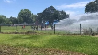 Lake Arthur students 'get soaked' by fire department