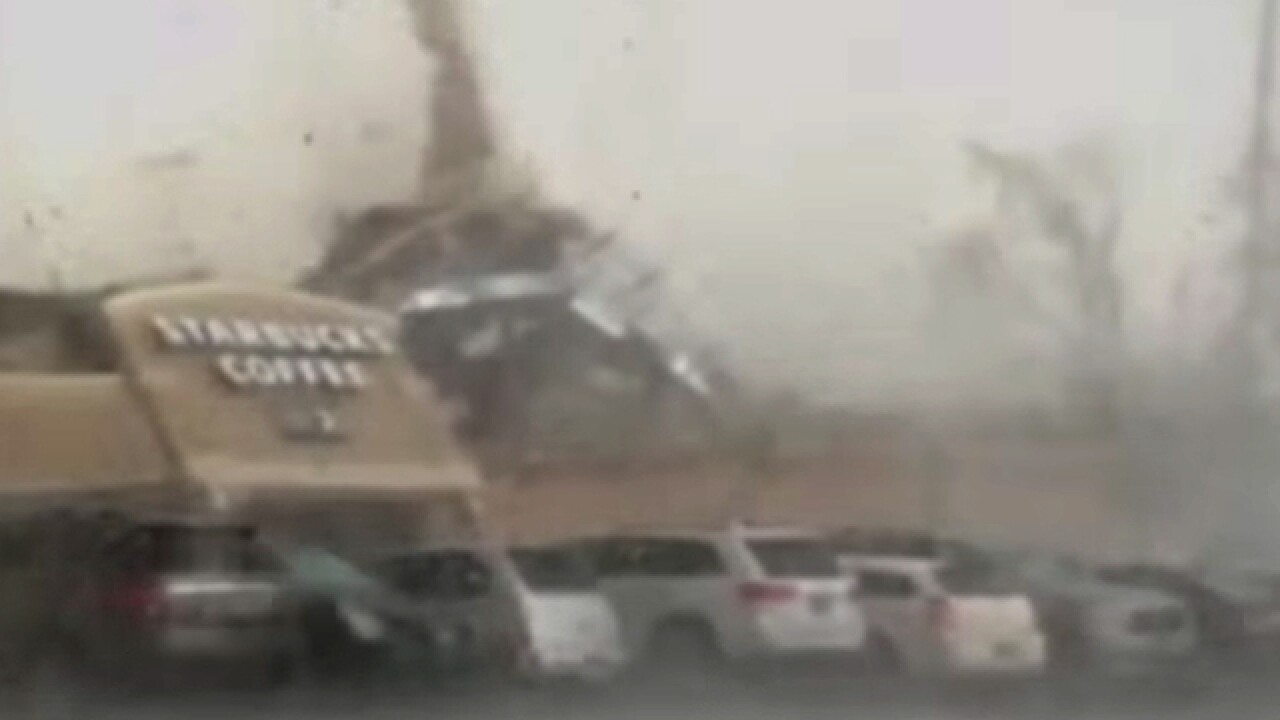 WATCH: Moment tornado leveled Indiana Starbucks