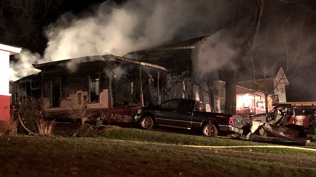 Three hospitalized, one person missing following fire that destroyed a house in Otto