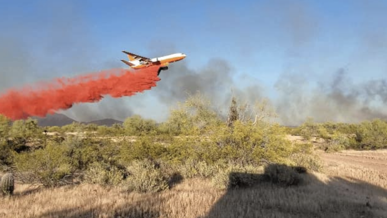 """Forest fire"" burning near Wittmann"