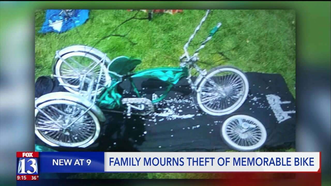 Utah family pleads for return of late father's show bike, stolen fromgarage