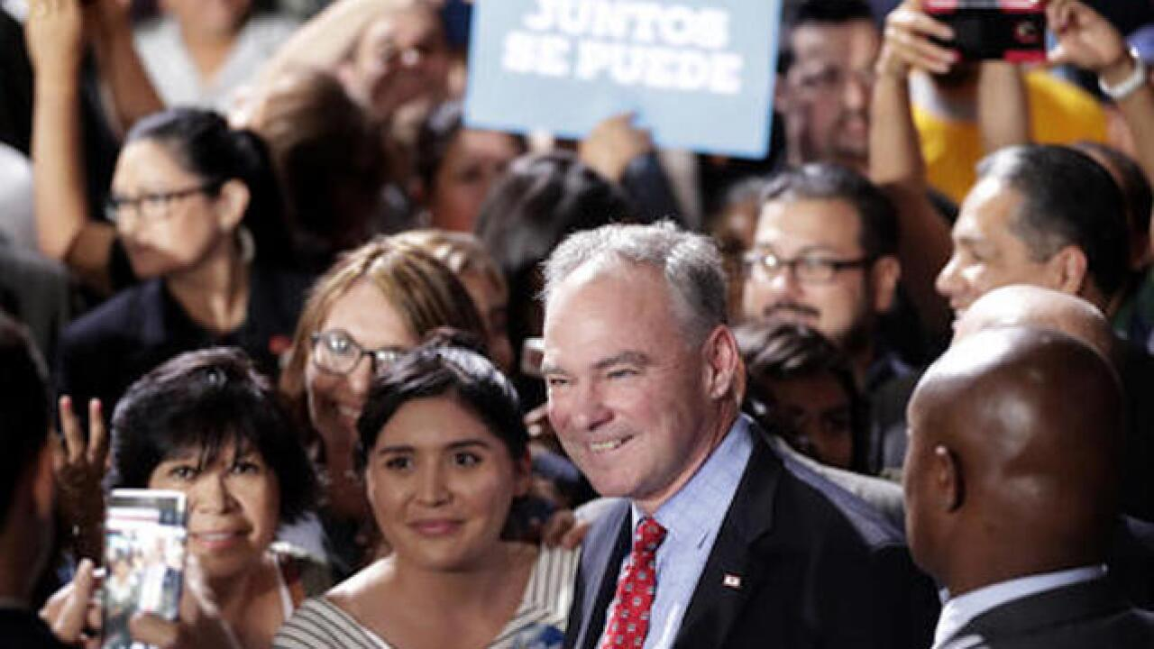 VP candidate Kaine delivers speech in Spanish in Phoenix