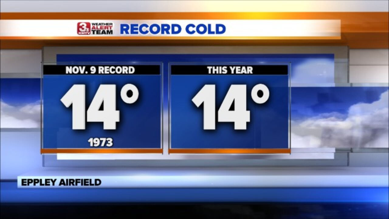 Record Cold Hits Omaha