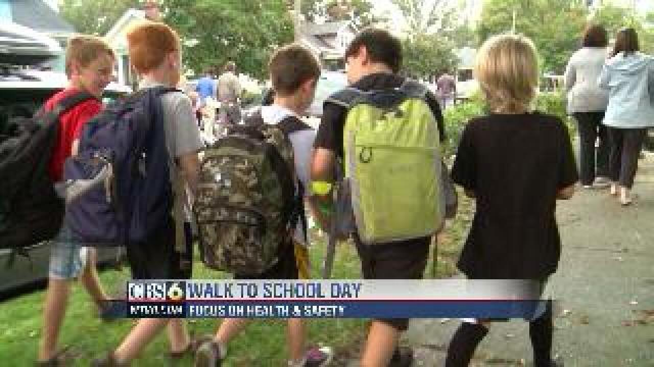Sidewalk safety part of 'Walk to School Day'