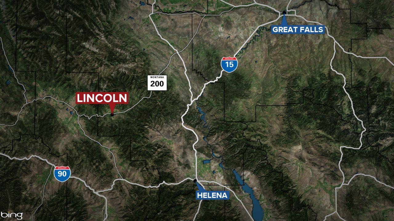 Lincoln Montana map