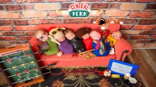'Friends'-themed Newborn Photoshoot Is Adorable