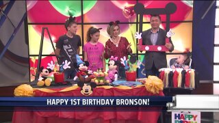Morning Mix throws Bronson a Mickey Mouse Birthday Party