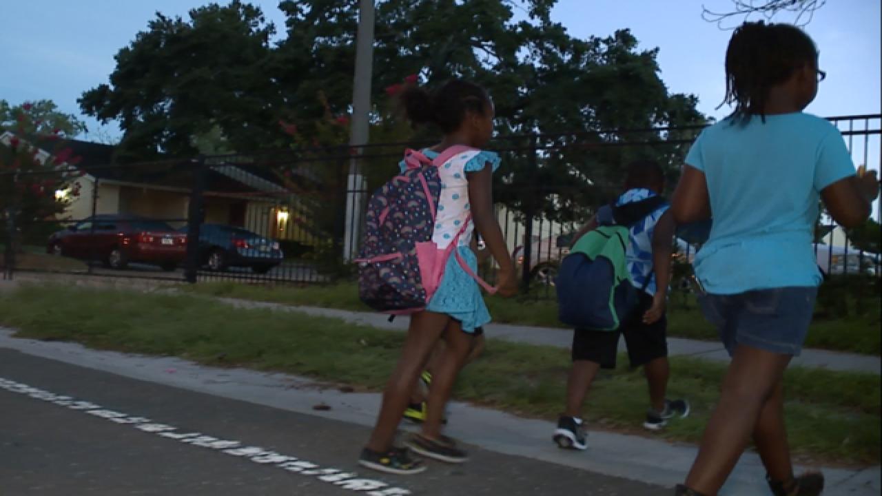 Kids walking dark streets to school need help