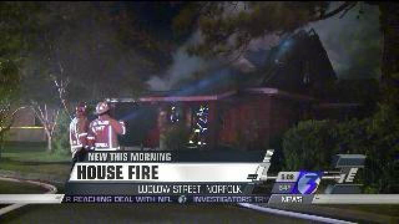 Fire destroys Norfolk home