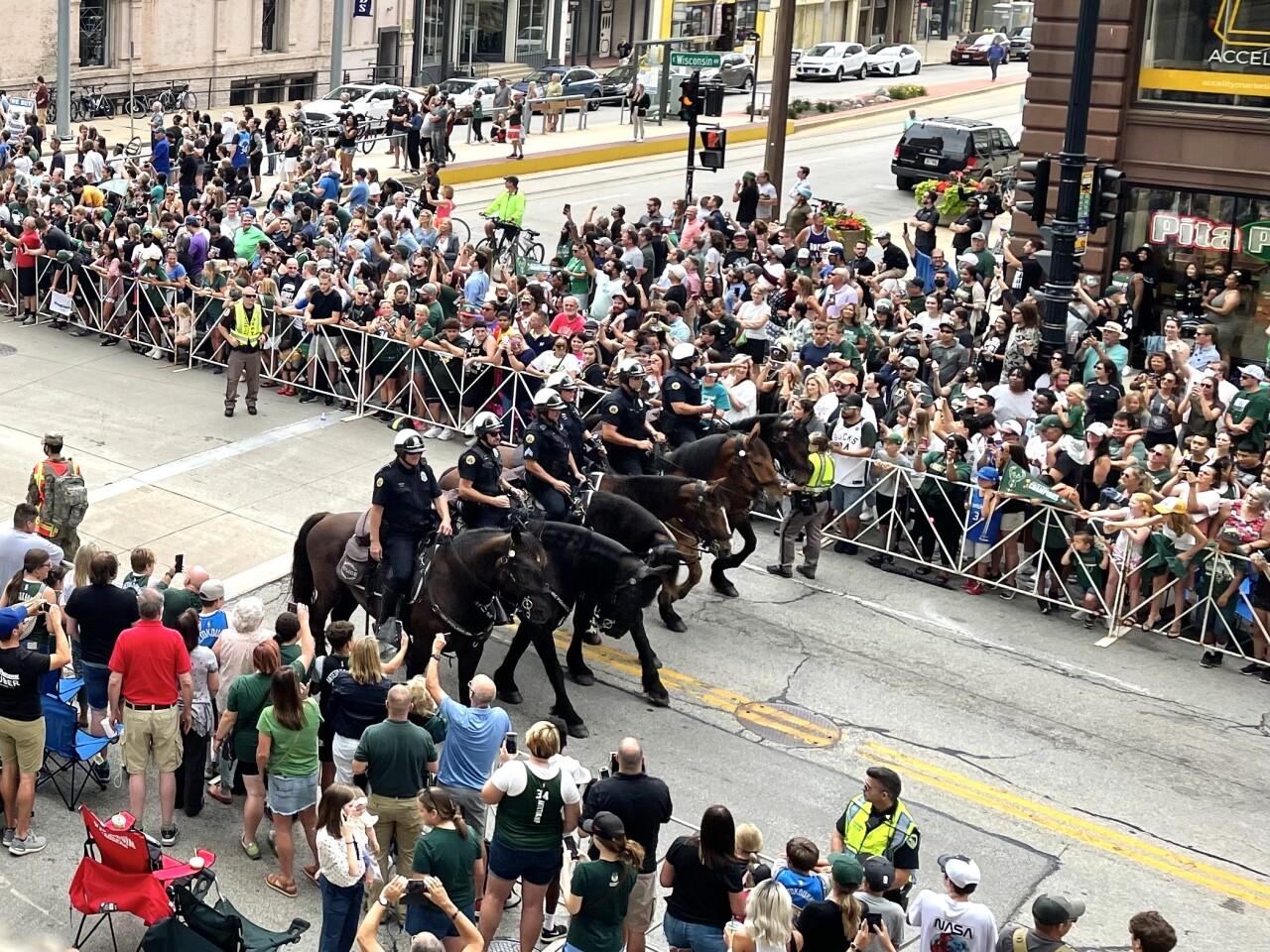 Milwaukee Police horses bucks parade