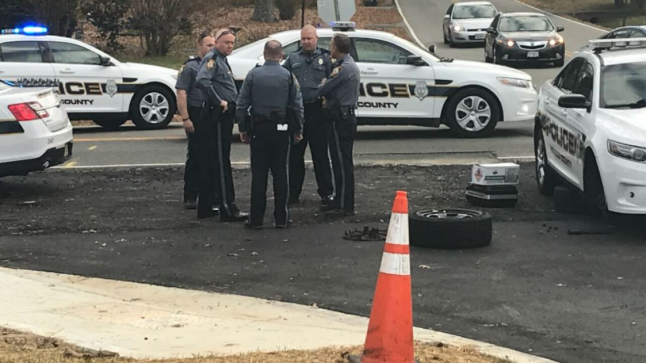 Driver crashes in Henrico afterrobbery