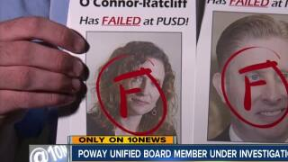Poway Unified board member under investigation