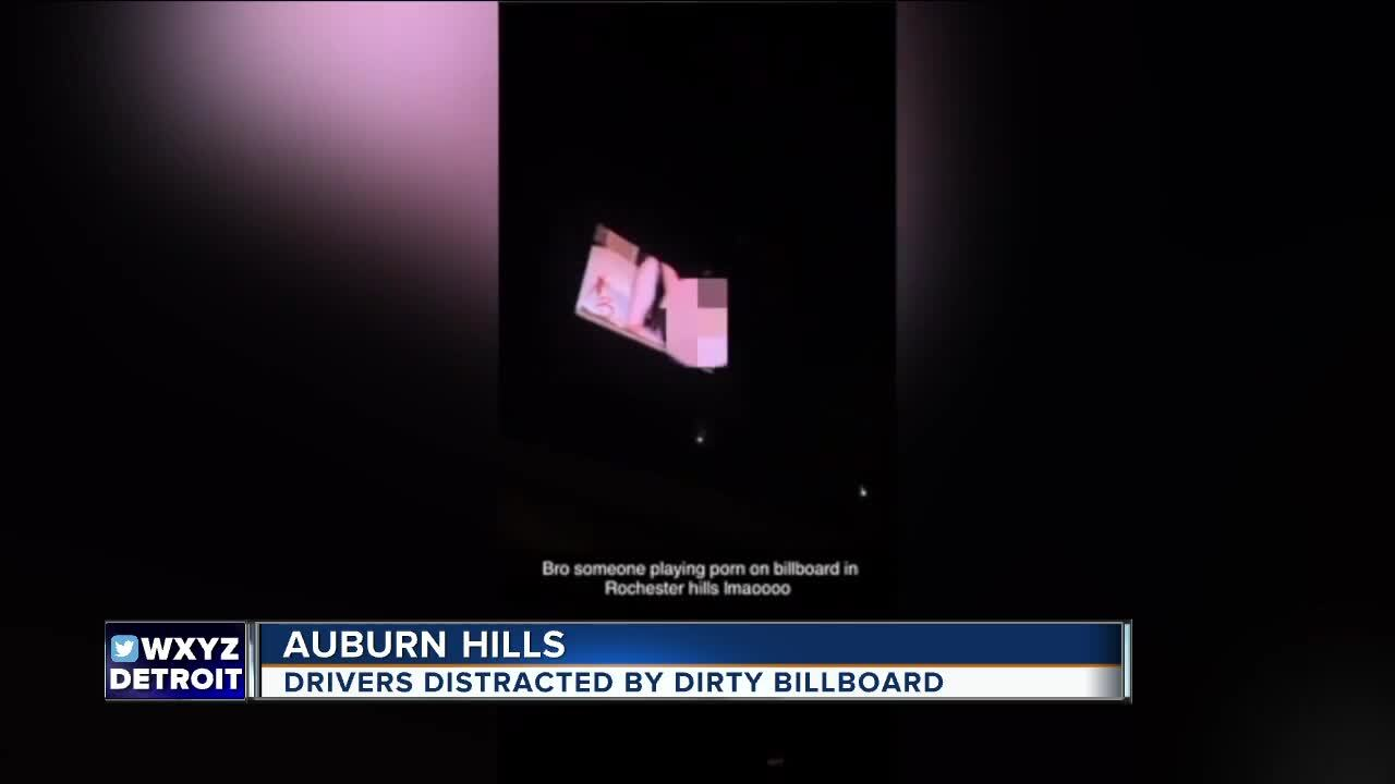 Porngraphic video plays on I-75 in Auburn Hills.jpg
