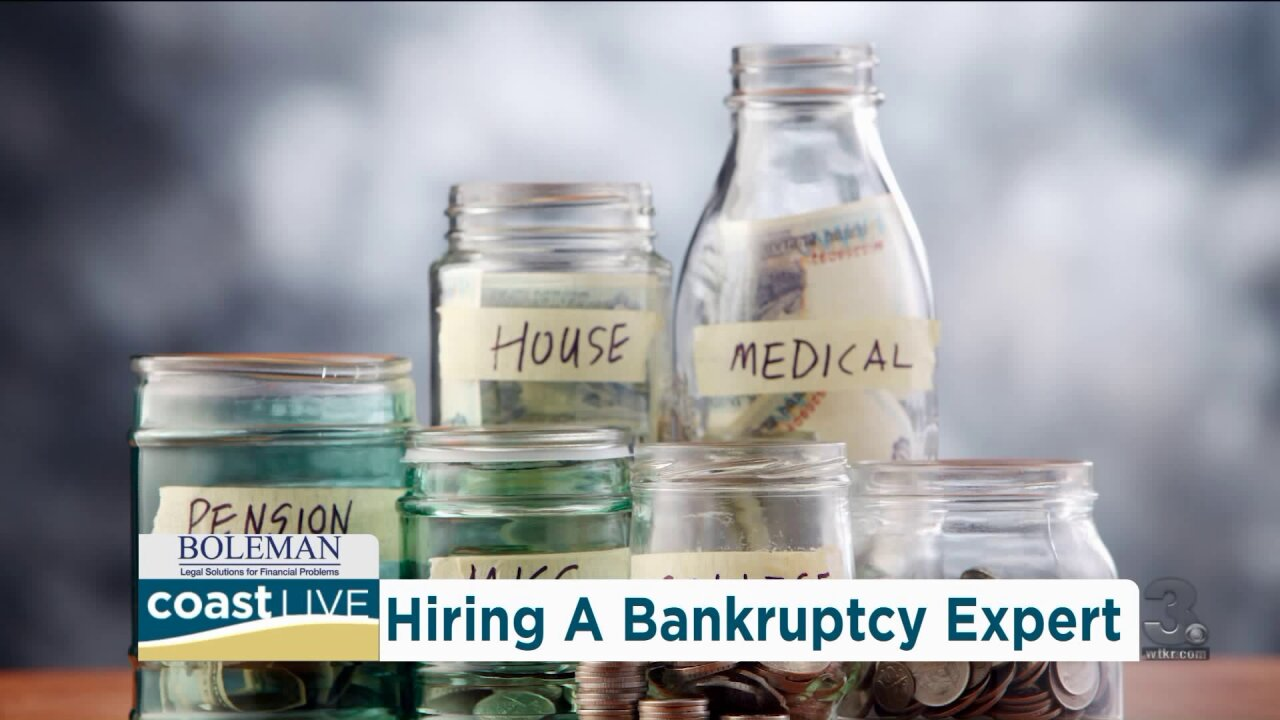 The importance of hiring an expert when filing for bankruptcy on Coast Live