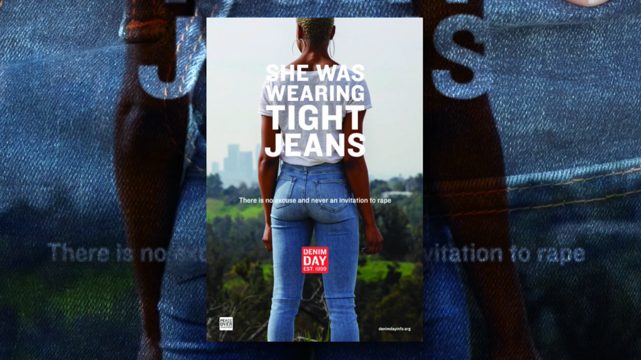 Across the globe, people wear denim in support of sexual assault victims