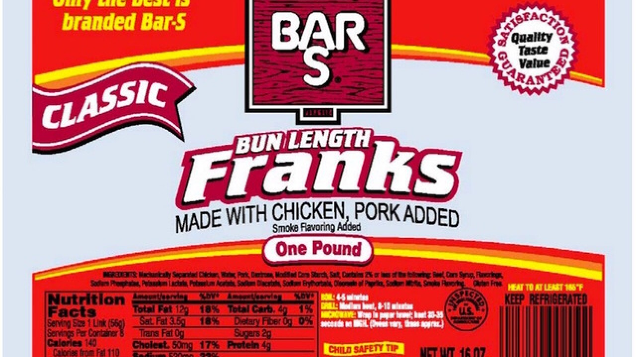 Bar-S Foods recalls hot dogs over listeria concern