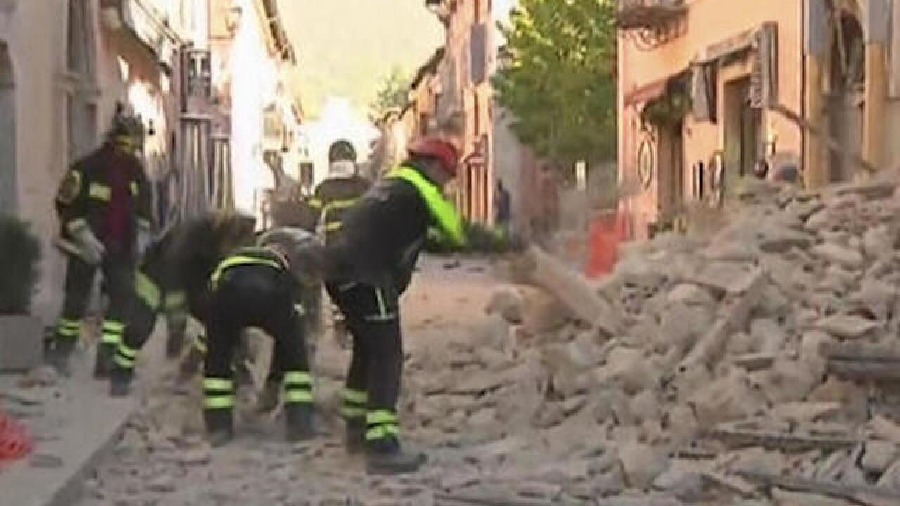Powerful quake rattles Italy