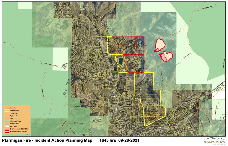 Ptarmigan Fire map_Sept 28 2021