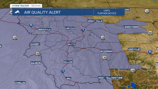 Unhealthy air quality and a dry cold front this afternoon