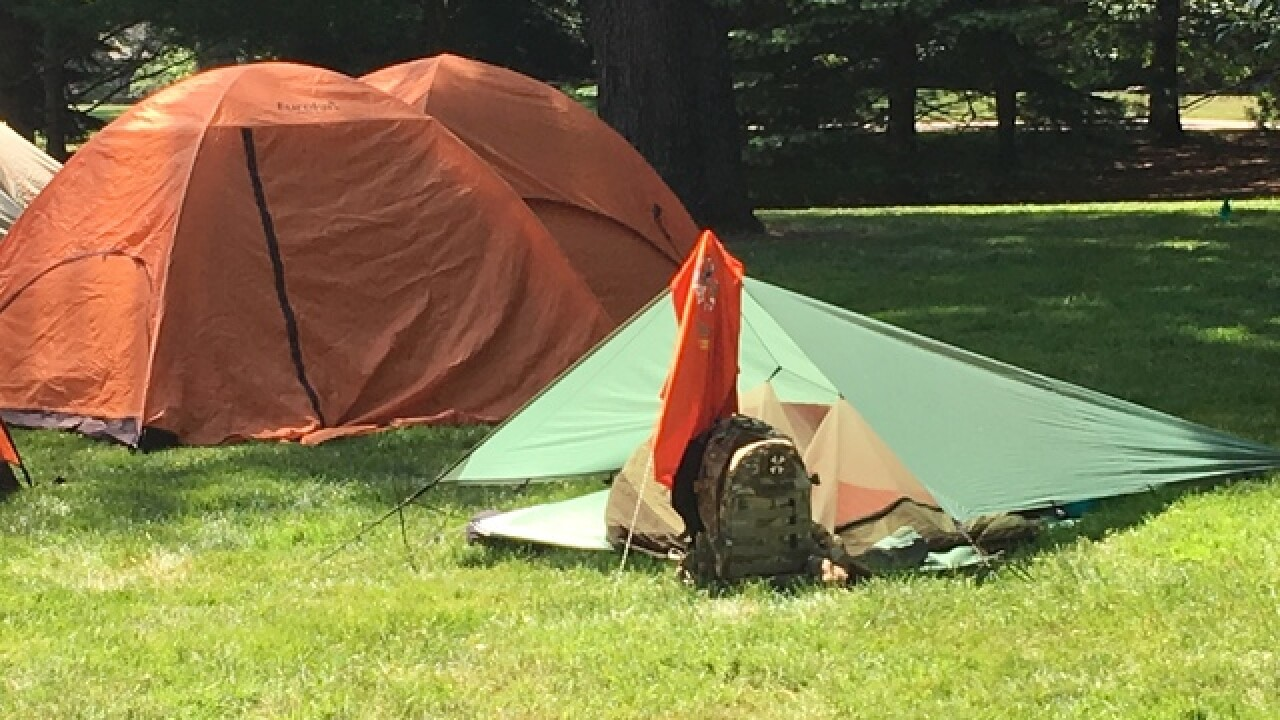 PICS: Boy Scouts camping on governor's lawn