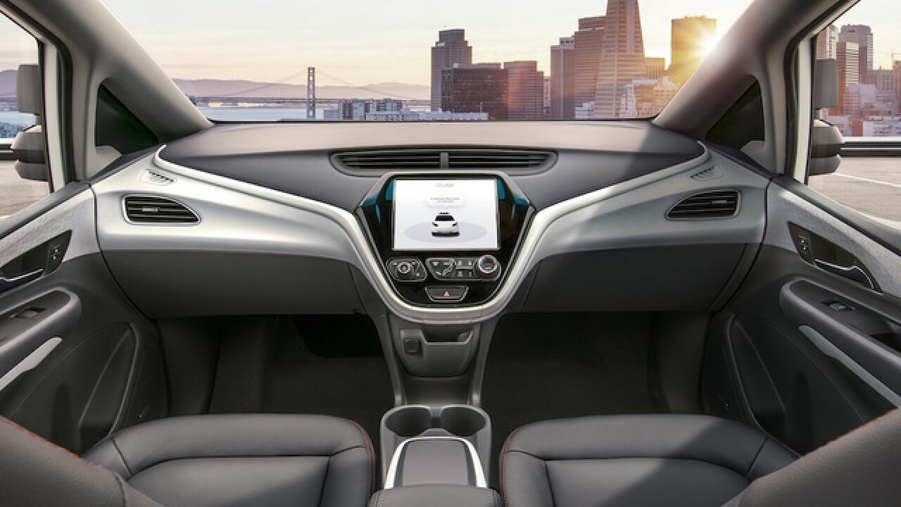GM introduces self-driving car without wheel