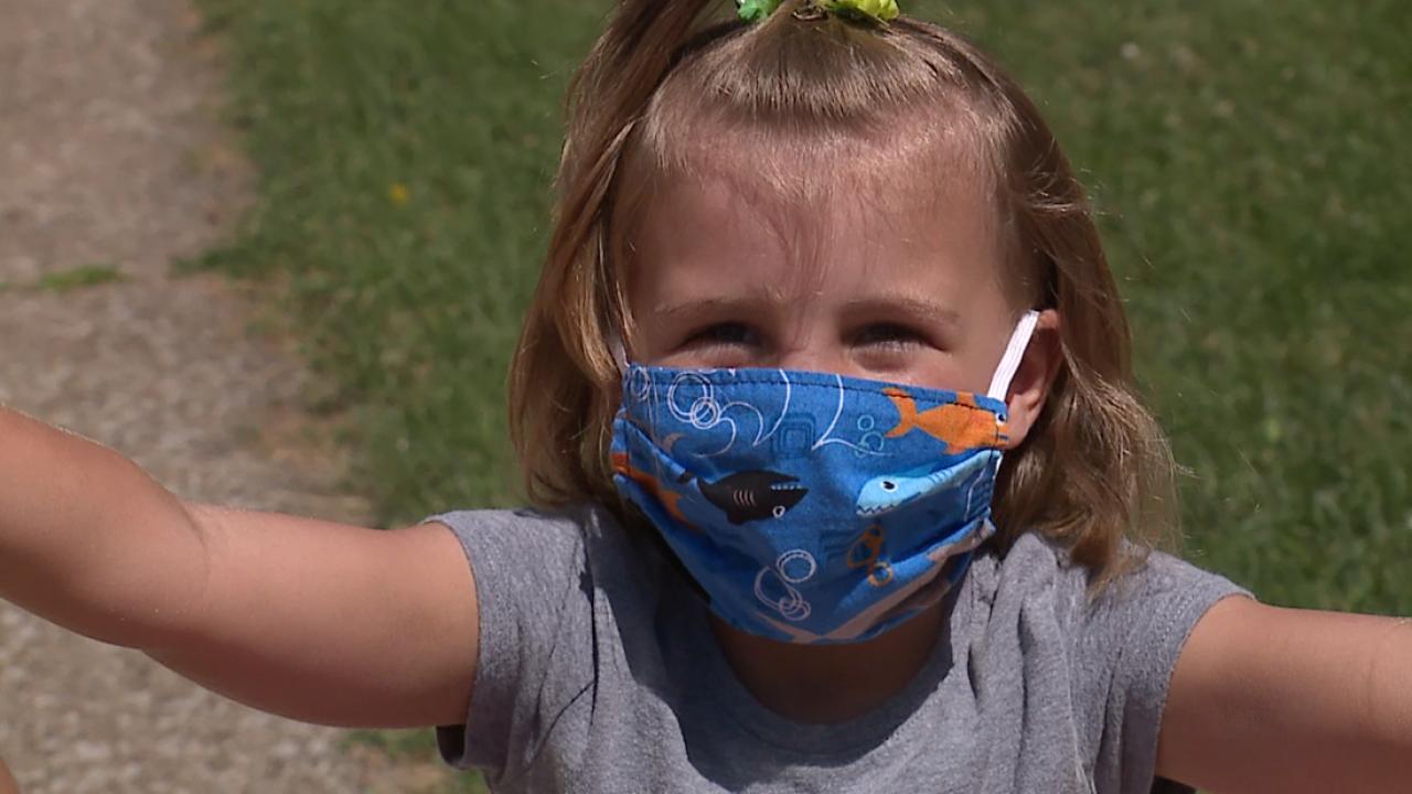 Kids in masks