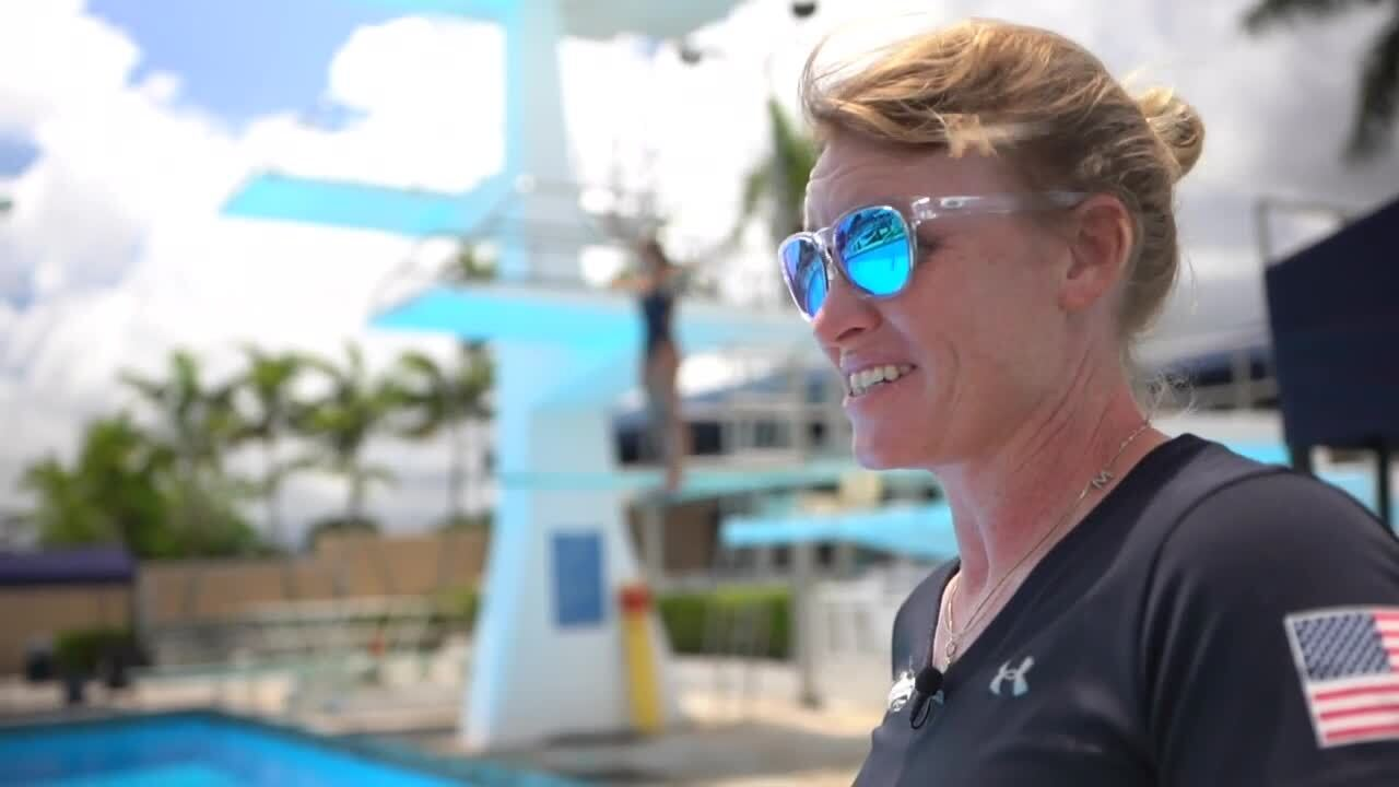 Michelle Sandelin, Olympian diver and coach
