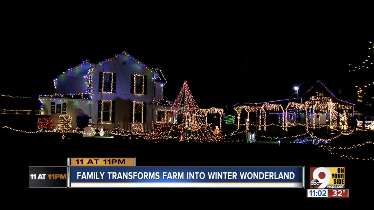 Indiana lights display