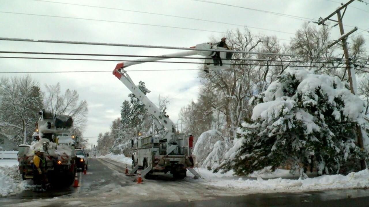 Xcel electricians restoring power to Fort Collins neighborhood