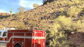 Hiker falls 40-feet after going off trail at Piestewa Peak