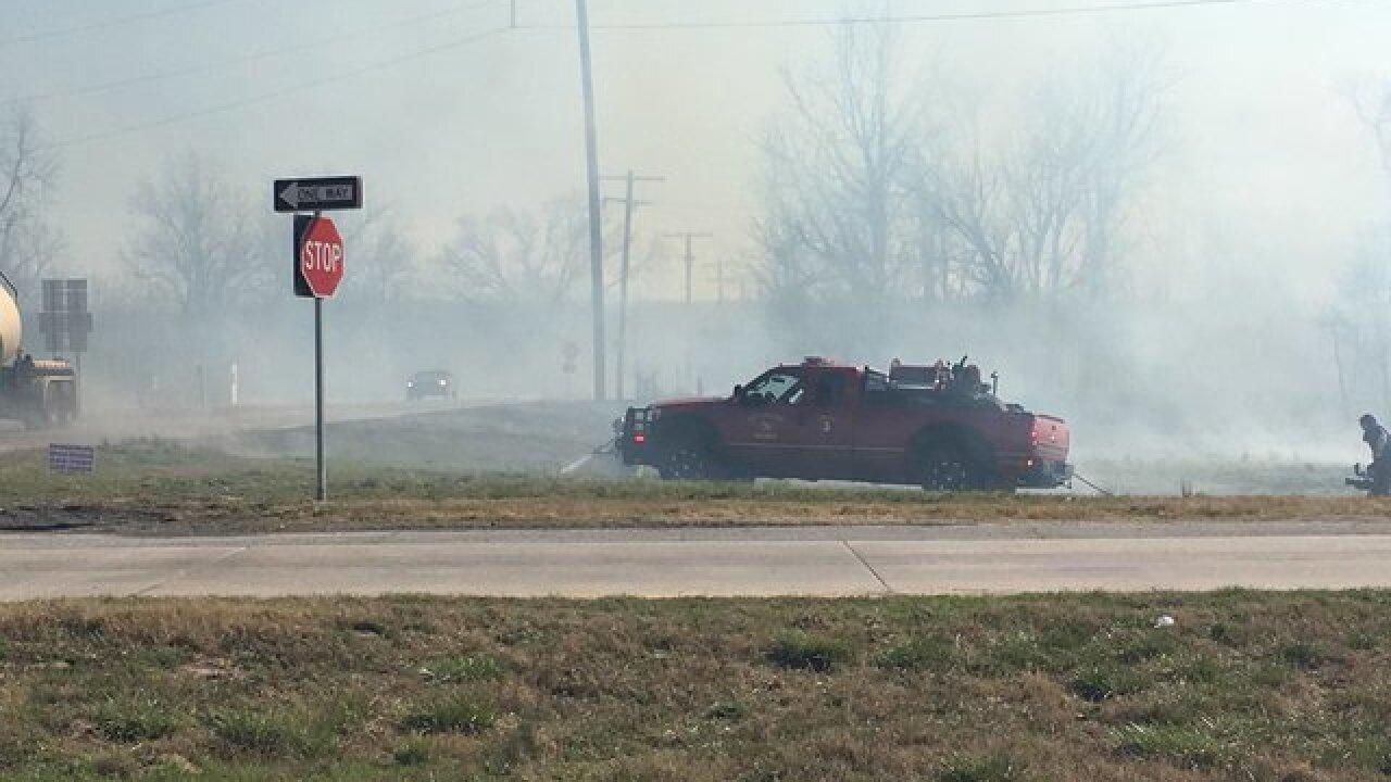 Crews battle multiple Sand Springs wildfires