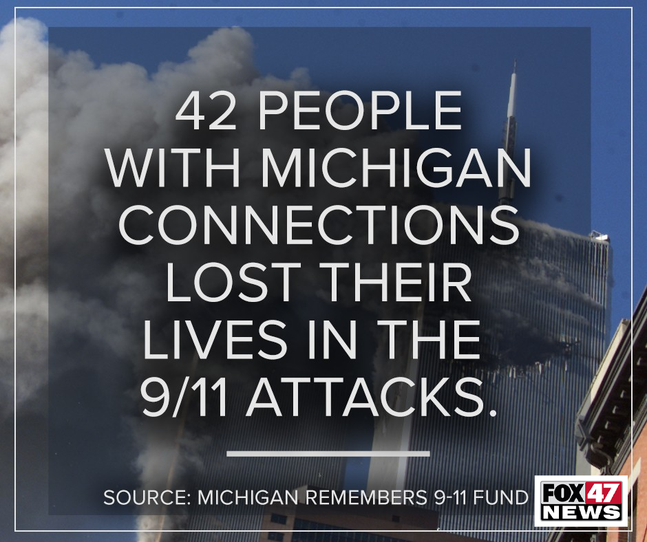 42 people with Michigan connections lost their lives in the 9/11 attacks