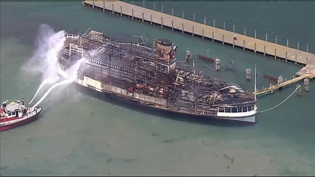 Photo gallery: Aftermath of massive fire on Boblo boat