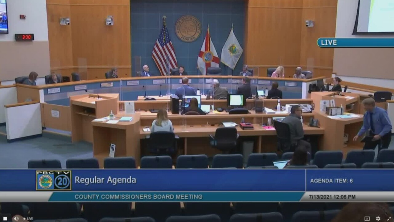 Palm Beach County commissioners meet on July 13, 2021.jpg